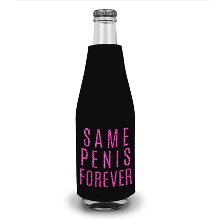 Same Pen*s Forever Pink Glitter Bottle Cooler