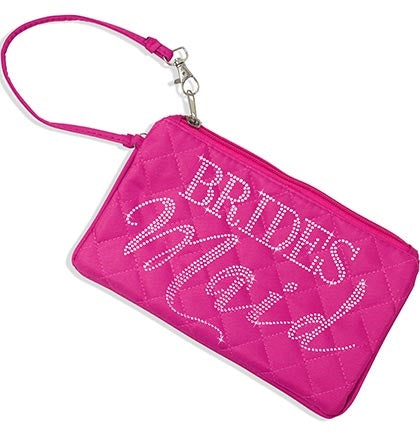 Bridesmaid Pink Quilted Zipper Pouch