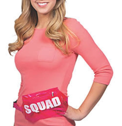 If your looking for a cute and unique way to stand out a the bachelorette party these pink transparent fanny packs are a must! The fanny packs are available in Bride or Squad and are made of a durable vinyl material.