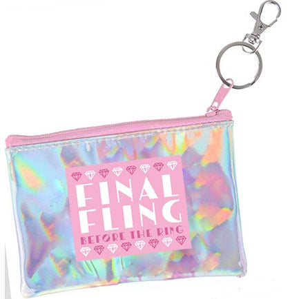 Final Fling Iridescent Coin Purse