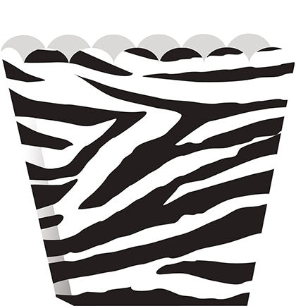 This set of 8 scallop edge boxes is super affordable and the zebra print will stand out. Fill each box with fun bachelorette treats and give them to each attendee.