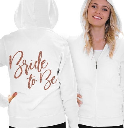 Glam Bride To Be Rose Gold Lightweight Hoodie