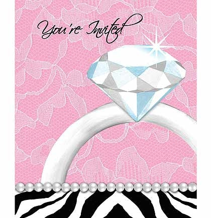 Bachelorette Party Invites with Ring