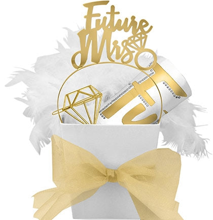 Future Mrs. White & Gold Luxury Gift Set
