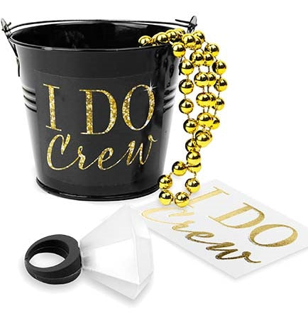 I Do Crew Black Pail Favor Kit