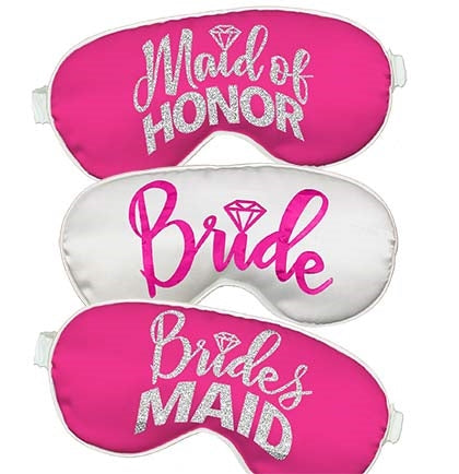 Bridal Party Hot Pink Sleep Mask
