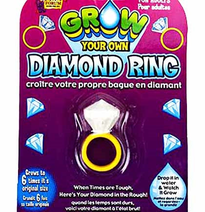 This fun Grow A Diamond Ring party favor is perfect to include in the brides gift at a bachelorette party or bridal shower. It grows to 6 times its size in just 72 hours! Just drop it into water and watch it grow!