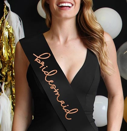 Rose Gold Bridesmaid Sash