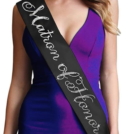 Flirty Matron of Honor Rhinestone Sash