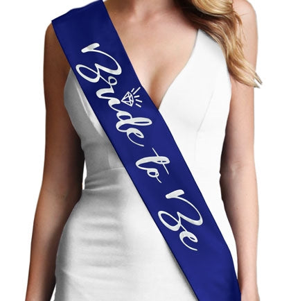 Silver Matte Bride to Be Glam Sash
