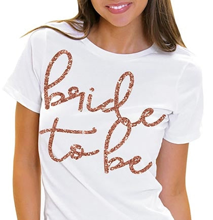 Lovely Bride to Be Rose Gold Glitter Tee
