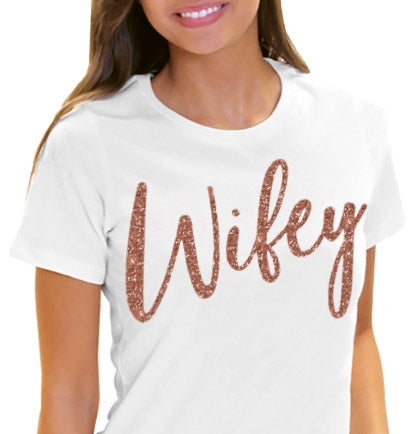Rose Gold Wifey Tee