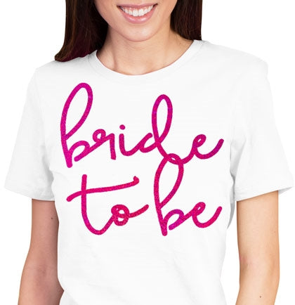 Lovely Bride to Be Pink Foil Tee