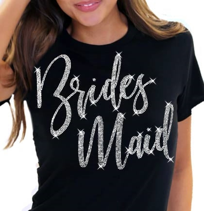 Bridesmaid Glam Rhinestone Tee