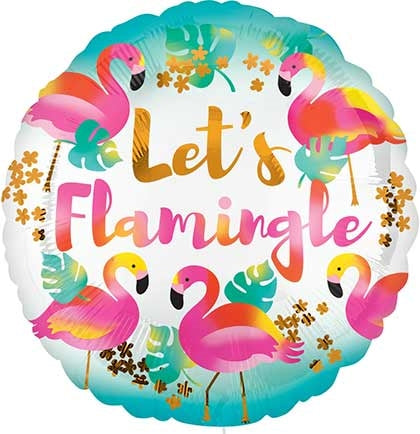 Let's Flamingle Mylar Balloon