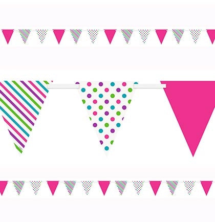 Bright Dots & Stripes Pennant Banner