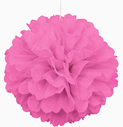 "Giant 16"" Pink Fluffy Pouf"