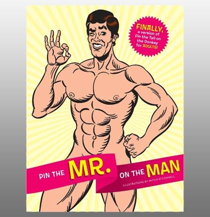 The best naughty bachelorette party game ever invented and perfect for every bride - Pin the Mr. on the Man!!