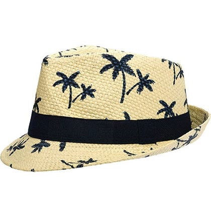 Having a Tropical Bachelorette Party and want to the bride to stand out? This fun natural straw Luau Fedora will be perfect for her to wear all night long!
