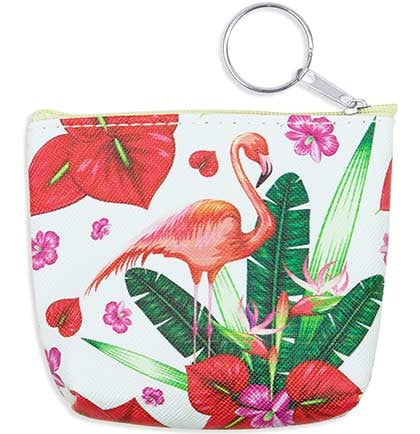 One Flamingo Keychain Coin Purse