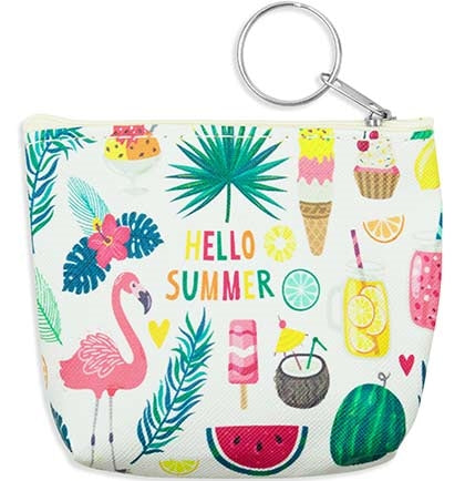 Hello Summer Keychain Coin Purse
