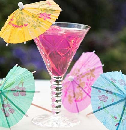 These umbrella picks are great for any drink, and will add a fun touch to any party. The set of 24 comes in assorted bright colors.