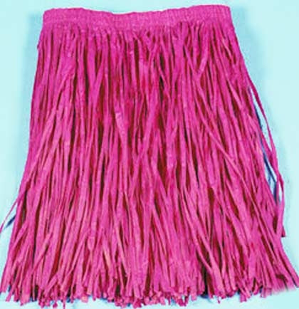"Bring out your inner hula girl with this hot pink hula skirt! The paper hula skirt is 16"" long and will be perfect with a tank top or bathing suit."