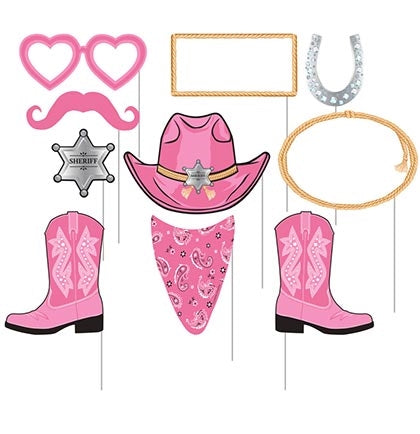 Party up Western style with these fun costume props! These set of 10 props are great way to make your bachelorette party a hit!