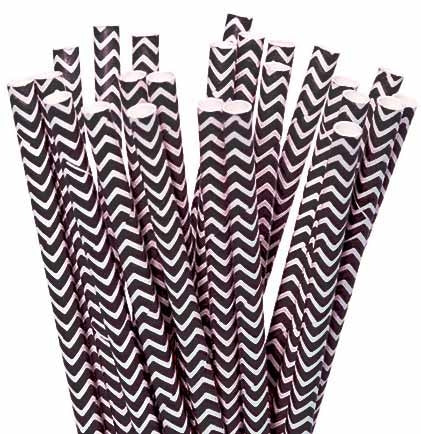 These cool retro chevron paper straws will make your Bachelorette Party Drinks look better! This set of 12 paper straws will add a fun decorative touch to your drinks.