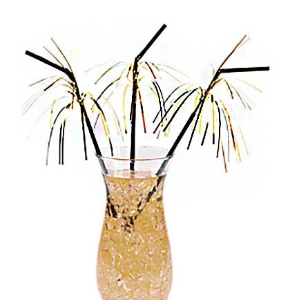 These fun black and gold fringe foil straws will add a glamorous touch to the party drinks. Set them out on party tables or create a bar area for guests to get their drinks.