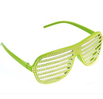 Having a neon or 80s themed bachelorette party? This plastic lime green shutter sunglasses is the perfect party favor to include in a goodie bag for the party guests!