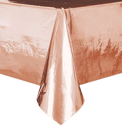 Metallic Rose Gold Table Cover
