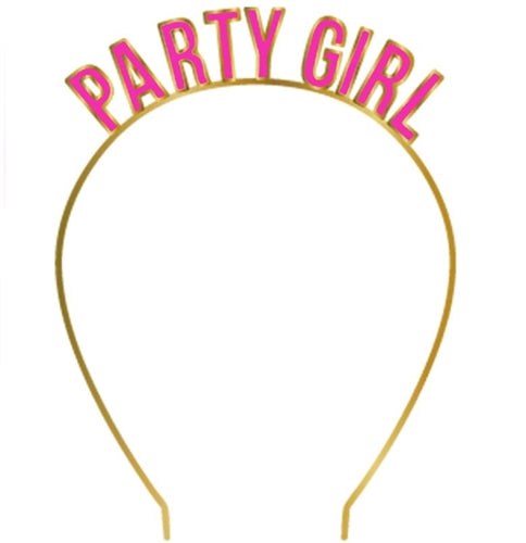 Party Girl Pink & Gold Headband