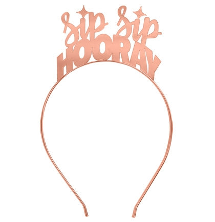 Sip Sip Hooray Rose Gold Headband