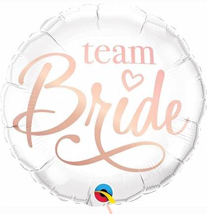 "18"" Team Bride Rose Gold Mylar Balloon"