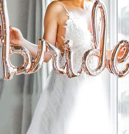 "30"" Bride Rose Gold Mylar Balloon"