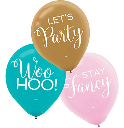 Set of 15 Let's Party Balloons