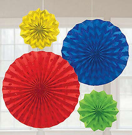 These colorful Rainbow Glitter Hanging Fans will be a lot of fun decorating a bachelorette party. The set of four fans have  glittery polka dots and chevron patterns and come in three different sizes. Easily hung against a wall, off of light fixtures or in doorways.