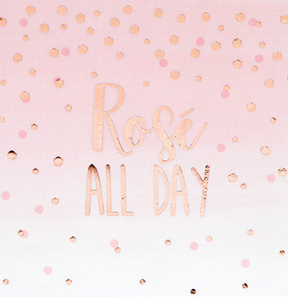 Rosé All Day Luncheon Napkins