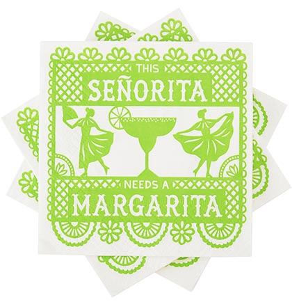 This Señorita Needs A Margarita Napkins