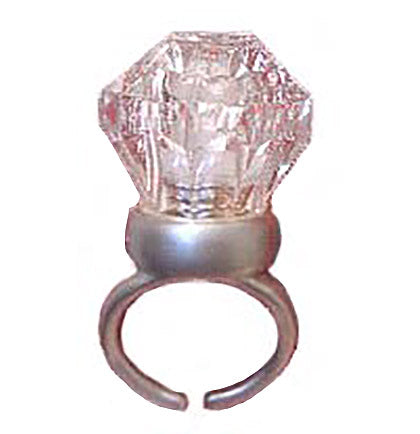 Grab this fun plastic novelty light up ring for your bachelorette party favors! All the bachelorettes will light up where ever they go!