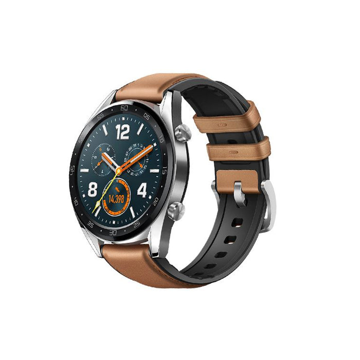 Huawei GT Watch Stainless Steel Saddle Brown
