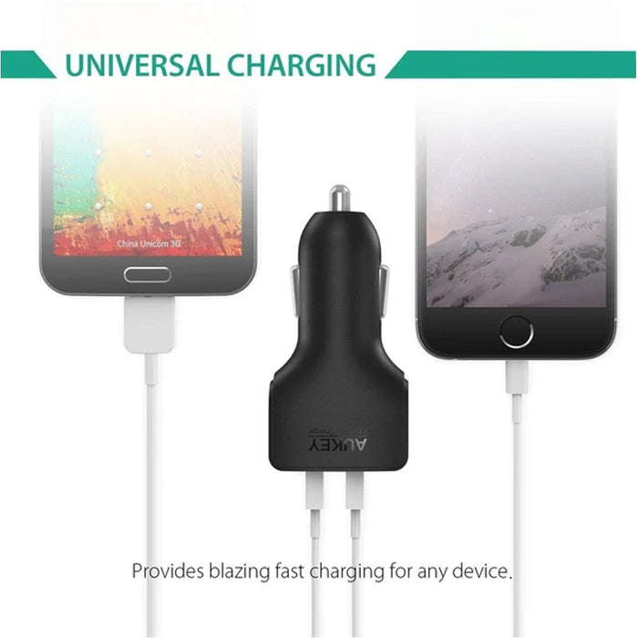 AUKEY CC-S3 Dual Port Car Charger 2.4A