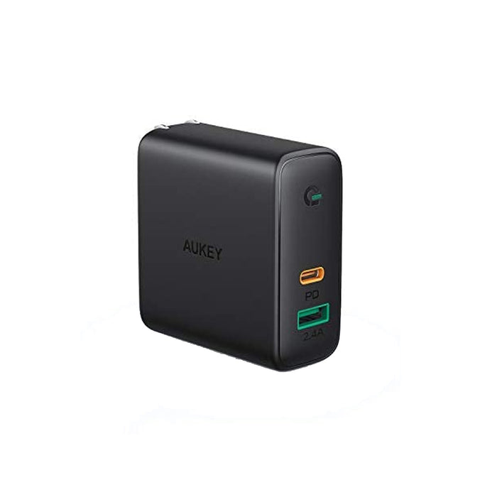 AUKEY PA-D3 Focus Duo 60W Dual-Port PD USB C Charger with Dynamic Detect