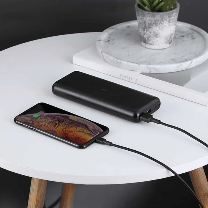 AUKEY PB-XN20 20000mAh Type C Ultra Slim Power Bank with USB C Fast Charging 5V 3A
