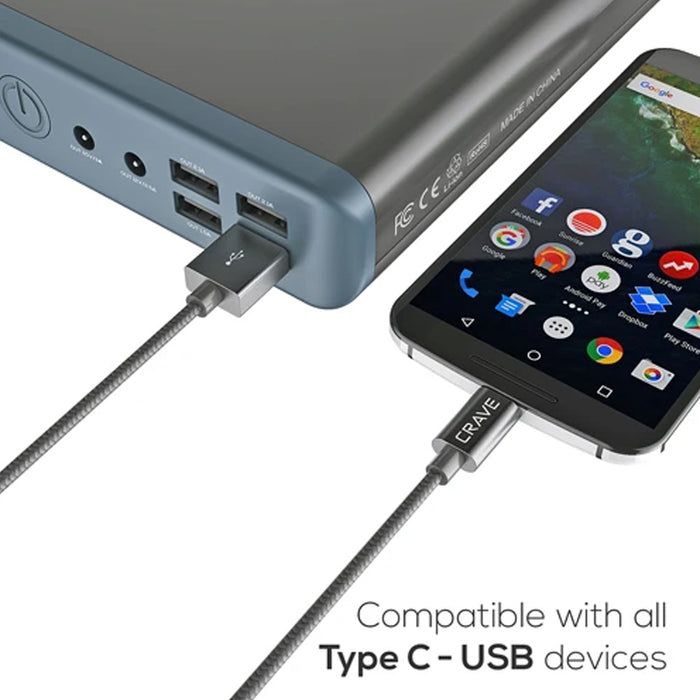 Crave Type C to USB Cable - 3 ft