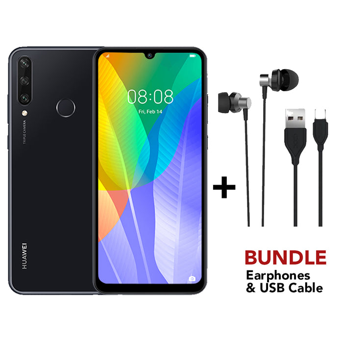 Huawei Y6P with USB Cable & Earphones BUNDLE