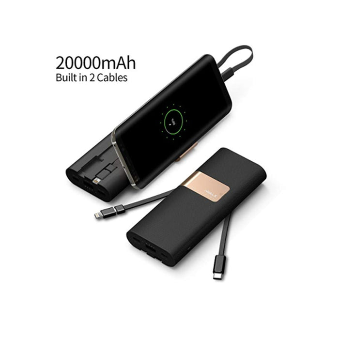 iWalk 20000mAh Power Bank Secretary+ with 2in1 build-in Micro and Type-C Cable