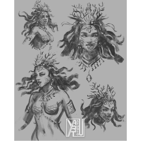 The Mermaid Pirate_Concept Sketches