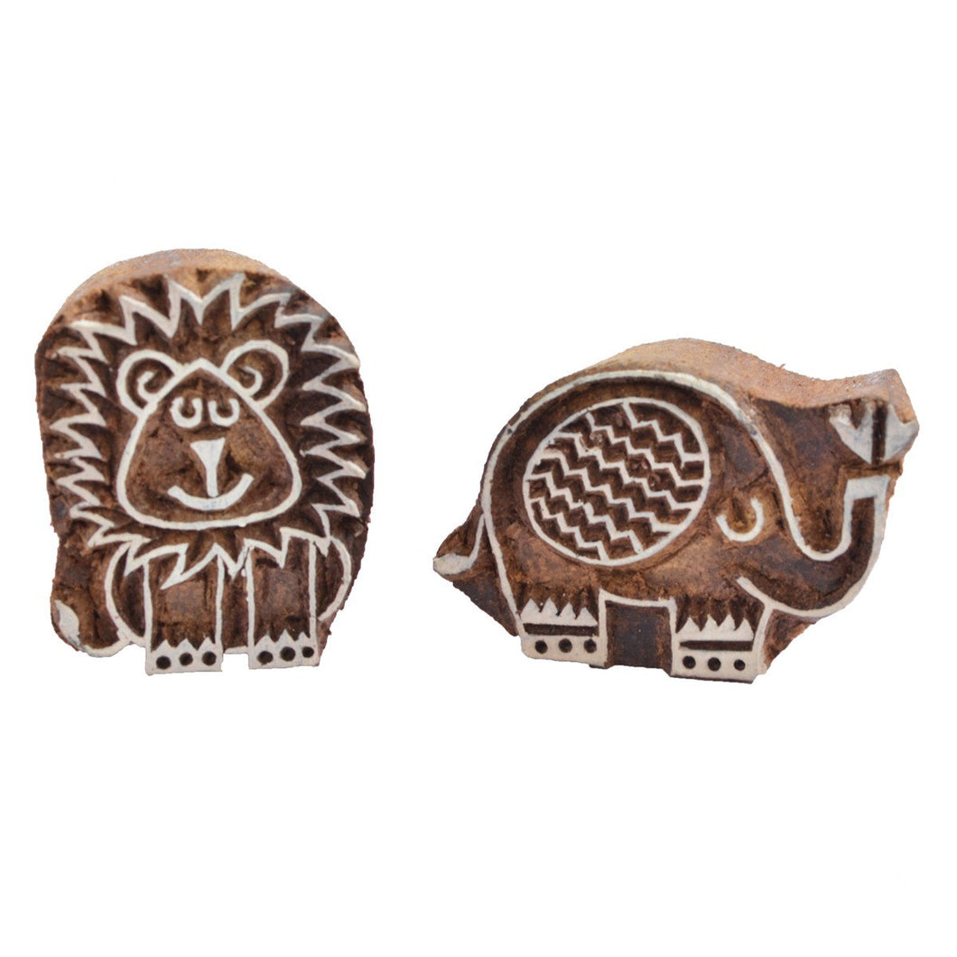 Ele and Leo Wooden stamps set (Age: 3+ years)